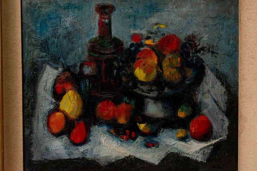 Luis vidal Molne, Spanish. 30's oil. Nature morte aux fruits