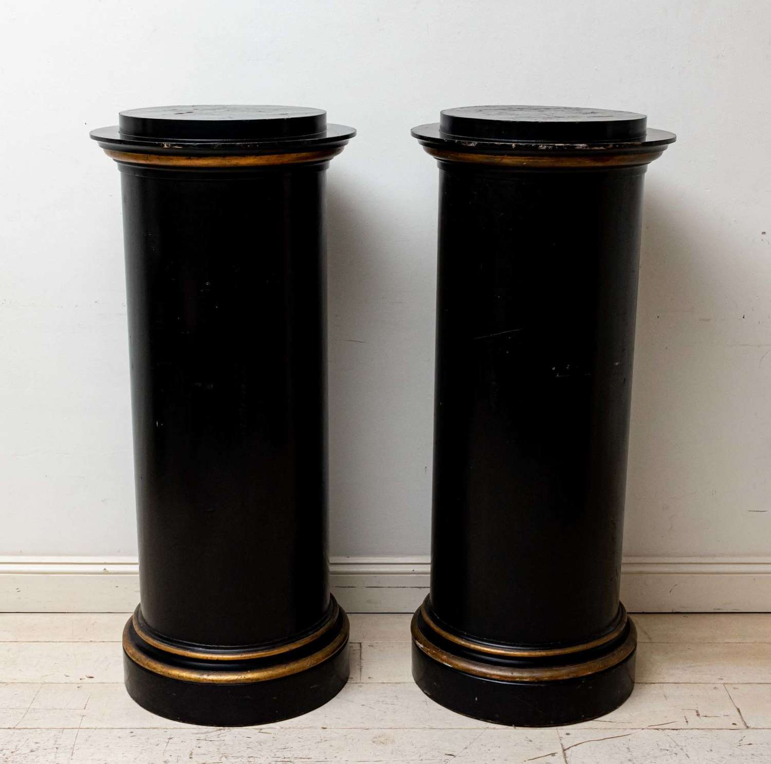 Pair Large English Country House columns, C19th. very stable