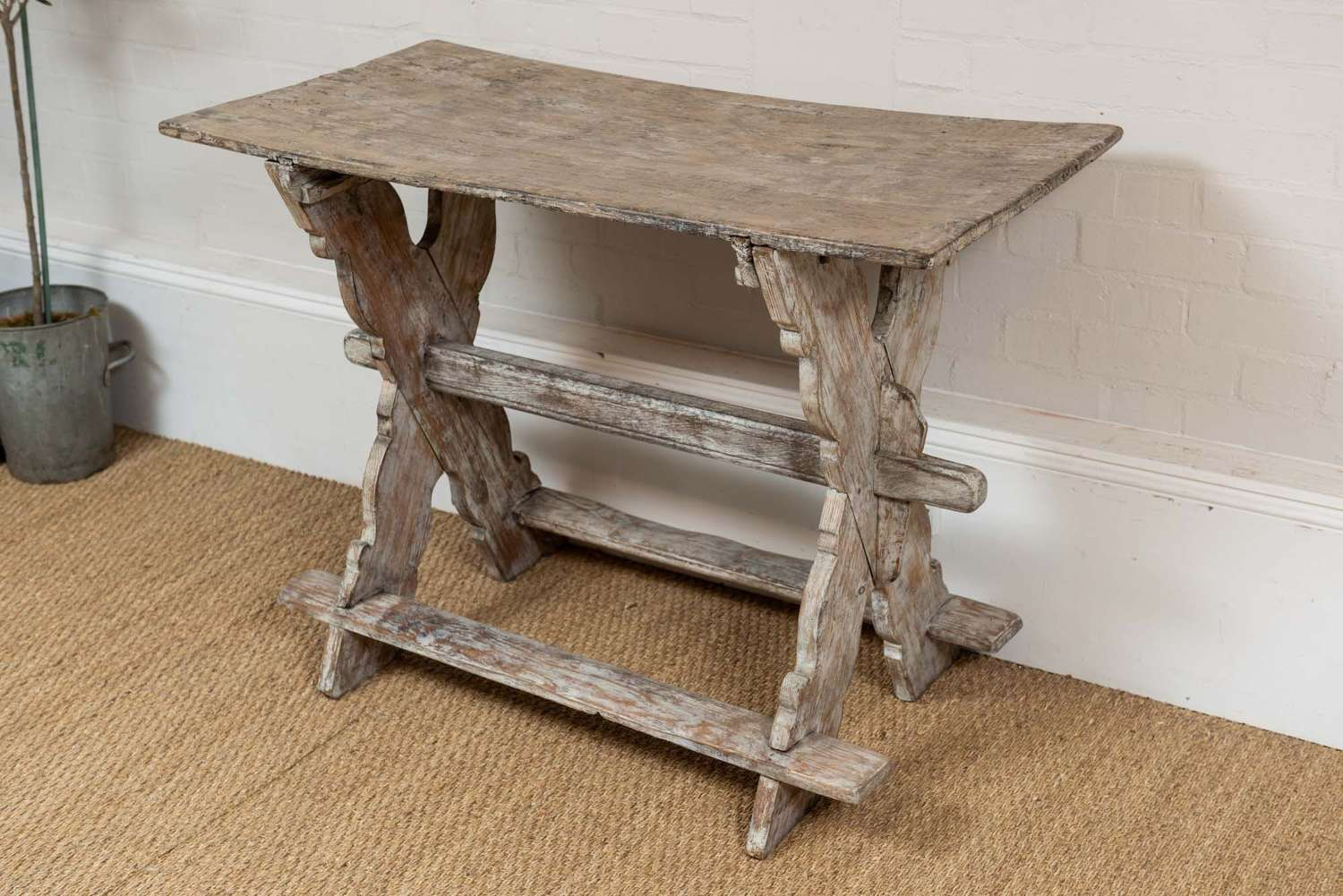 Late 18thc rustic painted swedish table