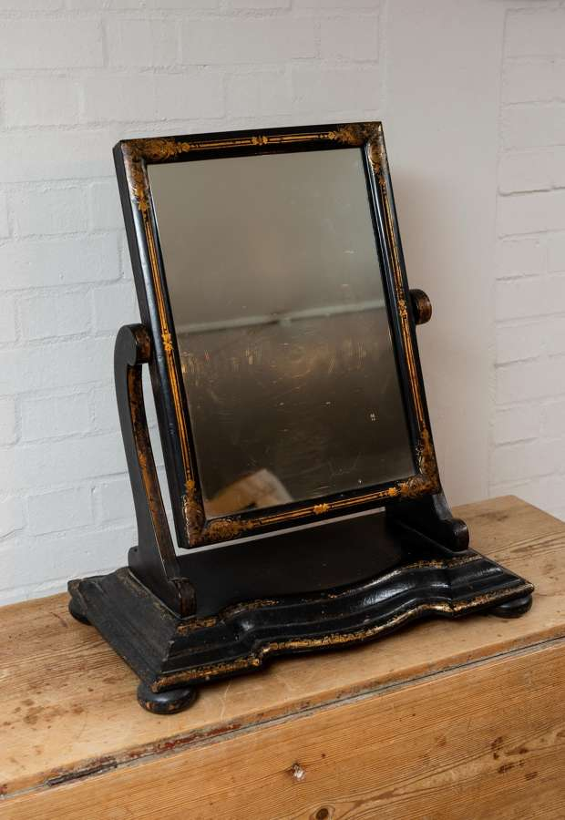 Victorian lacquered dressing table mirror