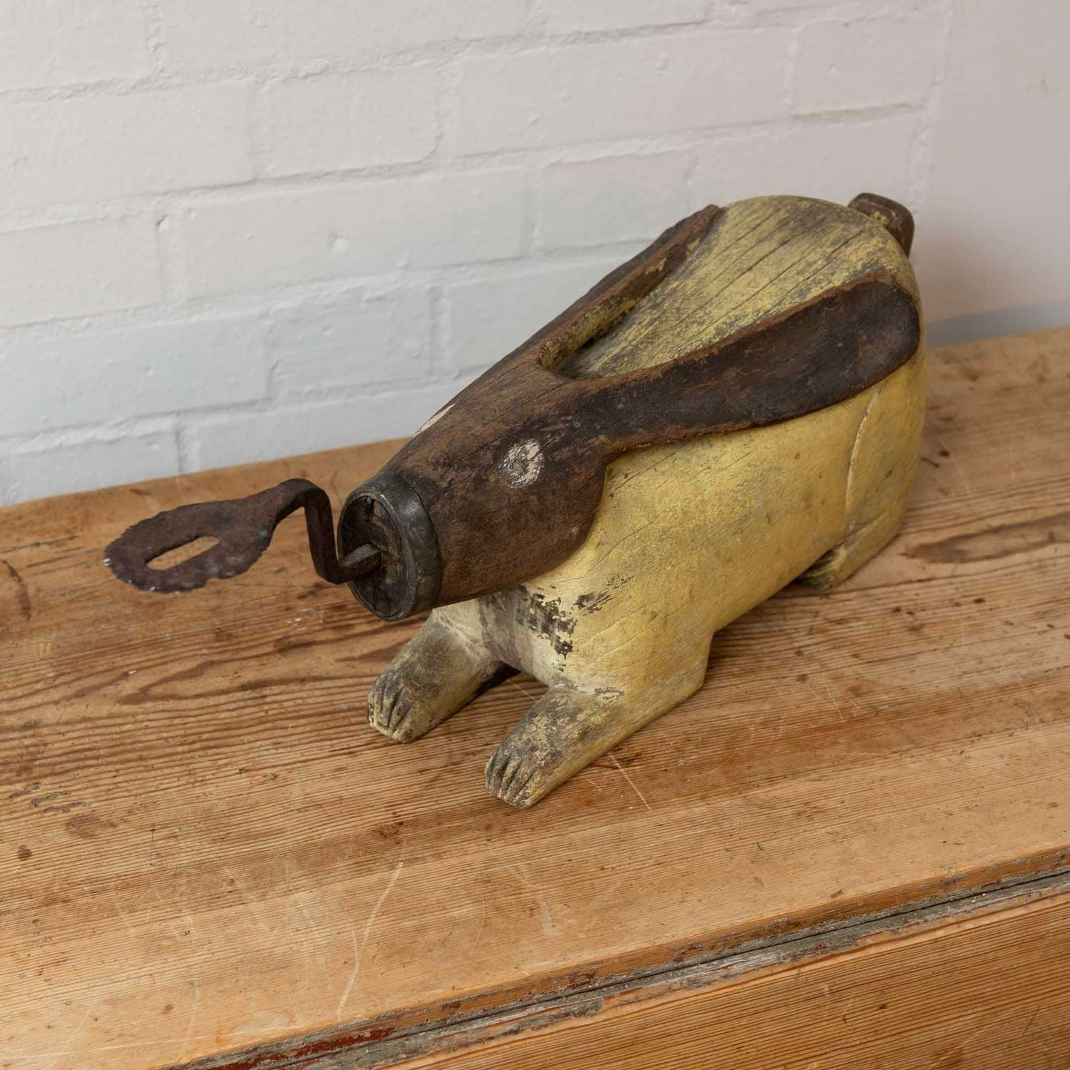 19thc south east asian rabbit coconut shredder