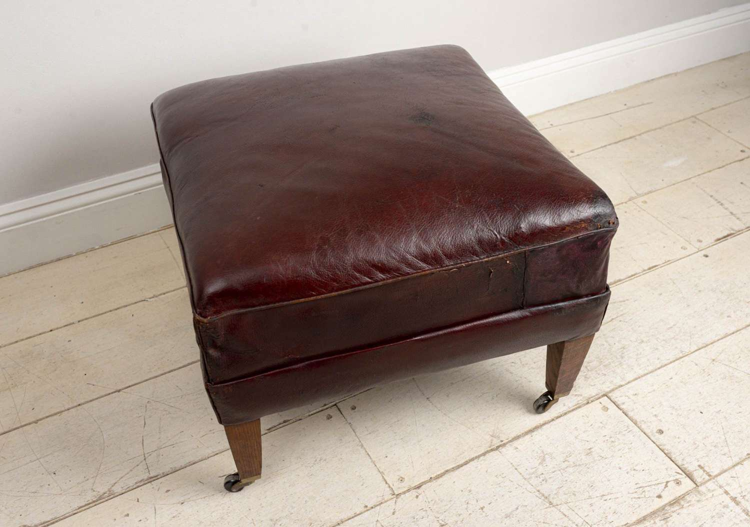Late 19th century leather stool