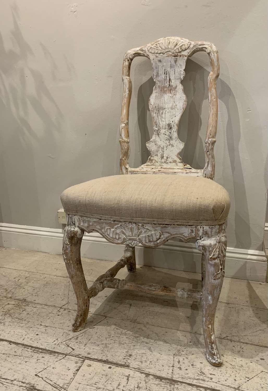 C18th swedish chair in original paint