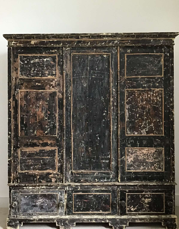C19th Regency painted Wardrobe